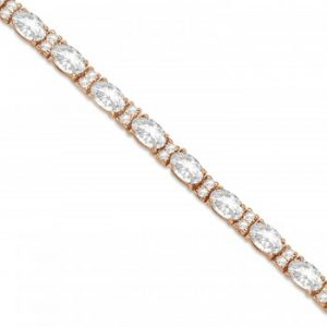 Lab Grown Diamond Oval Cut Tennis Bracelet 14k Rose Gold (9.25ctw)