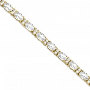 Lab Grown Diamond Oval Cut Tennis Bracelet 14k Yellow Gold (9.25ctw)